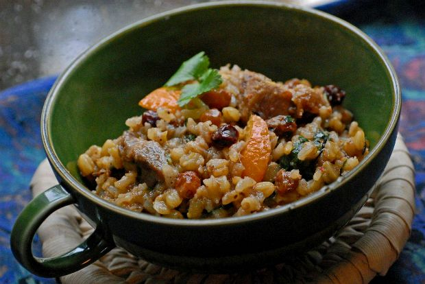 Photo: Wheat pilaf with lamb