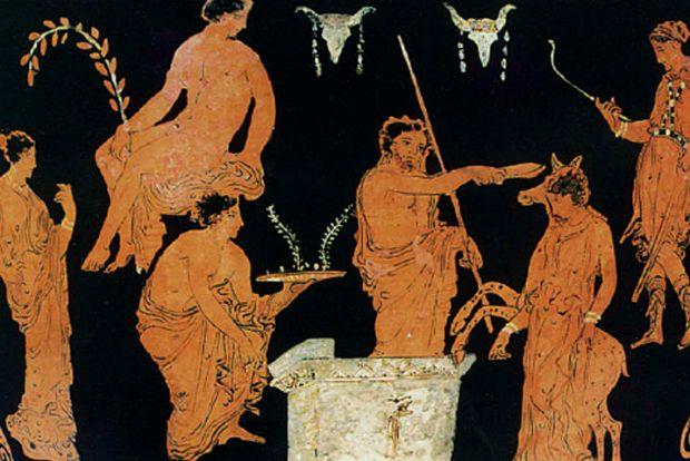 Σε πολλές αναπαραστάσεις αρχαίων αγγείων πιστεύεται πως απεικονίζεται το δημητριακό ζέα
