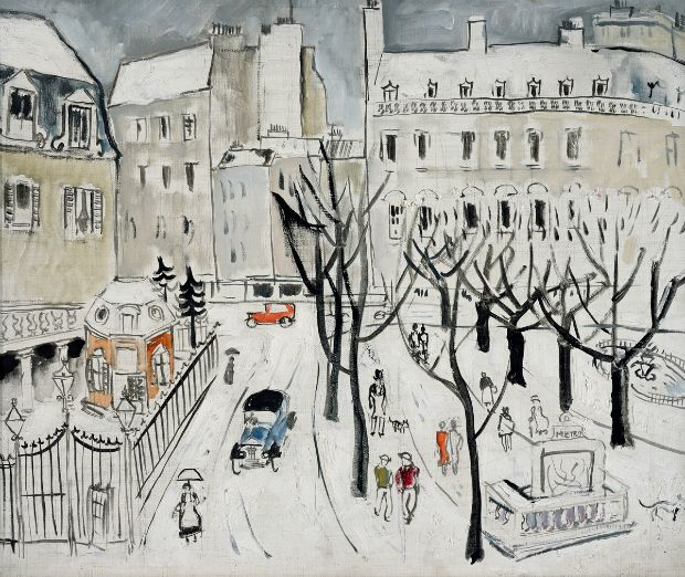 Paris Snow Scene, 1926 Oil on canvas