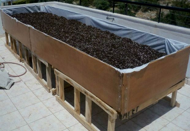Προσθέτουμε περλίτη ίσο με ένα τέταρτο του μείγματος για καλύτερο αερισμό του χώματος και τα ανακατεύουμε καλά όλα μεταξύ τους / photo: Άντυ Παξινός